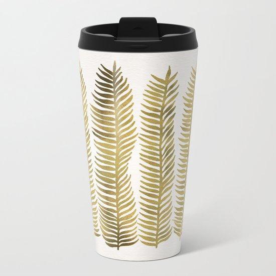 Golden Seaweed Metal Travel Mug