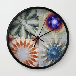 Aesthetes Formation Flowers  ID:16165-122917-34680 Wall Clock