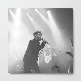 Live in Black and White Metal Print