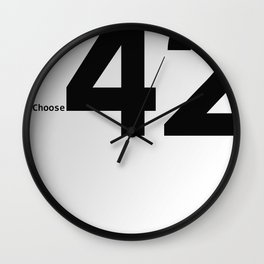 Choose 42 for your Towel Day Wall Clock