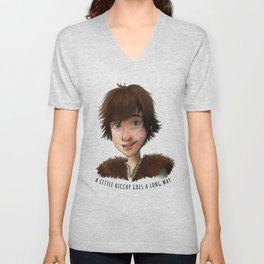 A little Hiccup goes a long way Unisex V-Neck
