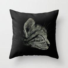 Sleep Through the Day (Cat) Throw Pillow