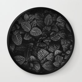 The Plant (Black and White) Wall Clock