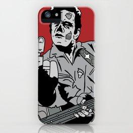 Johnny Cash Zombie Portrait Giving the Finger Print iPhone Case