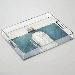 The Whale - vintage Acrylic Tray