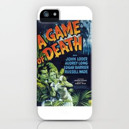 A Game of Death, vintage horror movie poster iPhone Case