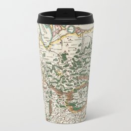 Vintage Map of Germany and Forests, 1657 Travel Mug