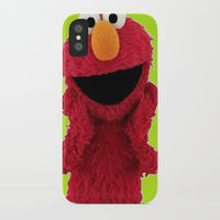 elmo iPhone & iPod Cases featuring ELMO DUVET COVER by aztosaha