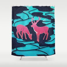 Negative Space Shower Curtain