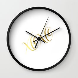 XOXO Gold Foil Print - Love Quote Print - Positive Quote - Lettered Print - Positive Wall Clock