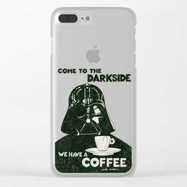 Come to the dark side Clear iPhone Case