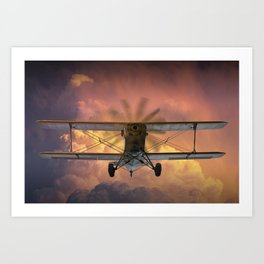 Loud Planes Fly Low Art Print