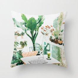 Junglow #illustration #decor Throw Pillow