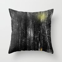 rabbits Throw Pillows featuring Rabbits by Digital-Art
