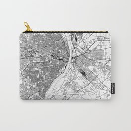 St. Louis White Map Carry-All Pouch