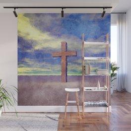 Christian Cross Landscape Wall Mural