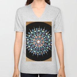 Mandala Blue Shades Unisex V-Neck