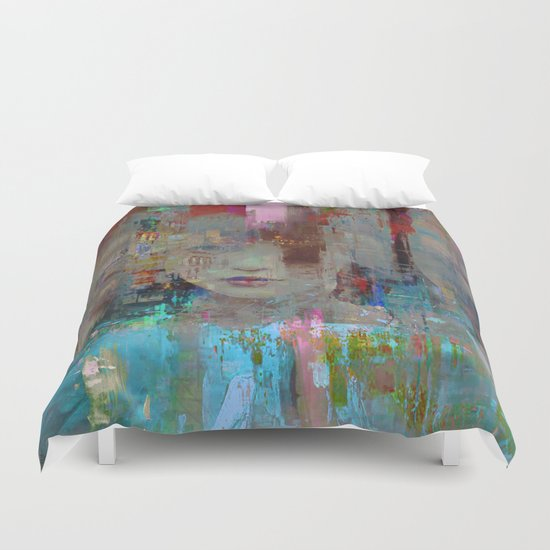 My First day in the city Duvet Cover