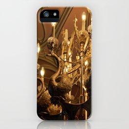 Swan Chandelier iPhone Case