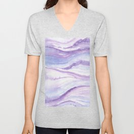 Abstract wave 10 textile Unisex V-Neck