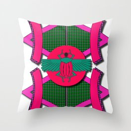 The Scarab Beetle Throw Pillow