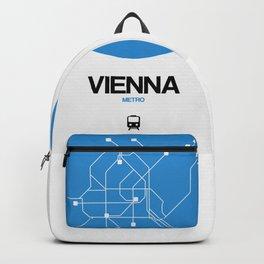 Vienna Blue Subway Map Backpack