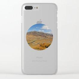 autumn Altai Mountains Clear iPhone Case