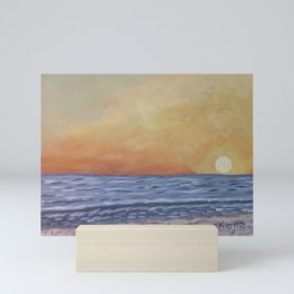 Sunset at the Beach Mini Art Print