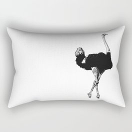 Ostrich Ballerina Rectangular Pillow
