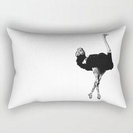 Ostrich Ballerina Rectangular Pillow