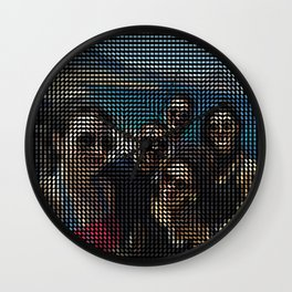 Social Surface - Friends on the beach Wall Clock