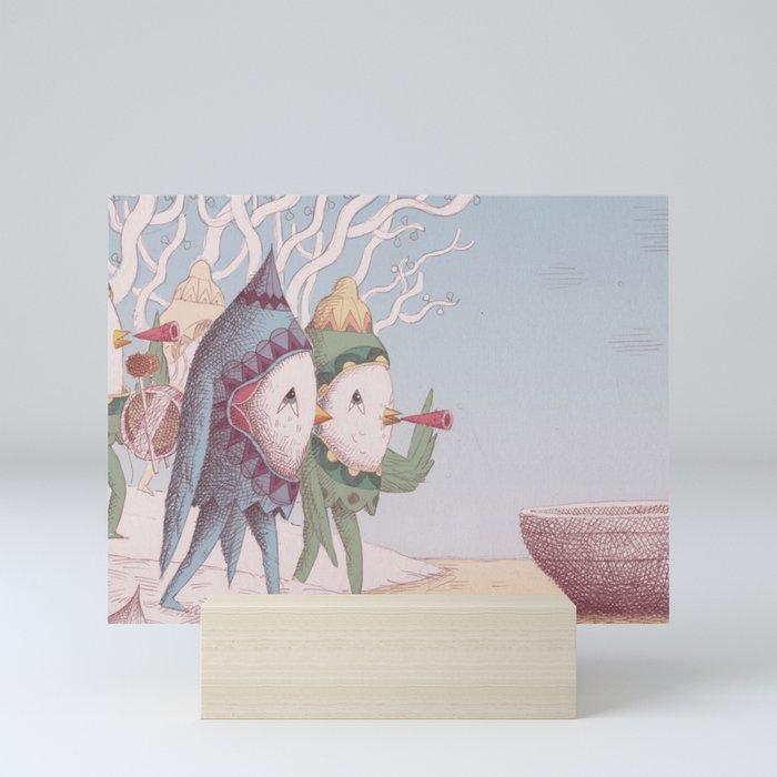 Drummer Bird Leaving Mini Art Print