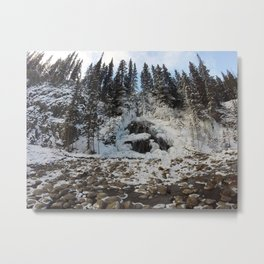 Bridal Veil Falls in Jasper National Park, Alberta Metal Print