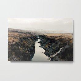 A River Runs Through Metal Print