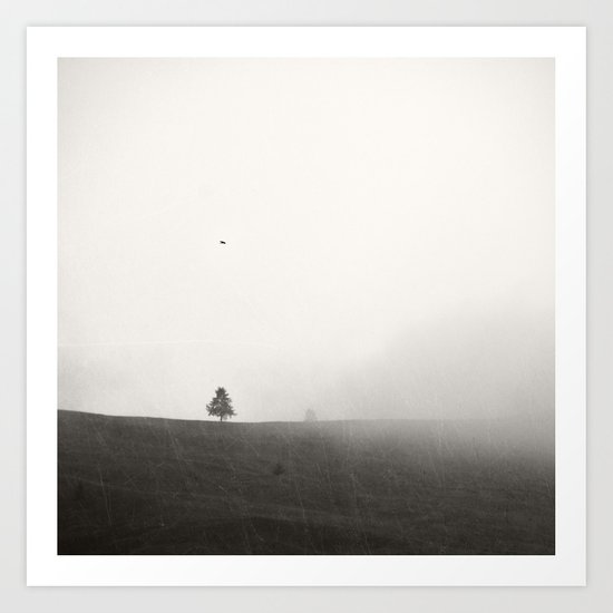 One lonely foggy afternoon Art Print