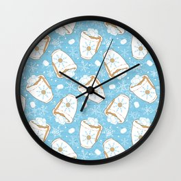 Snowing Marshmallow - Cocoa Wall Clock