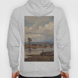 Hans Gude Painting -  Fjordlandskap Med Folkeliv 1875  | Reproduction | Norwegian Art Hoody