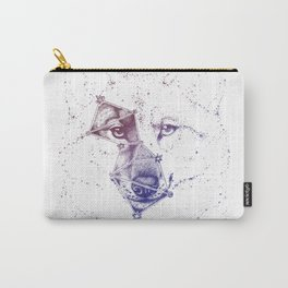 Wolf constellation (Lupus) || Color version Carry-All Pouch