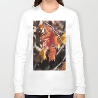 manchester Long Sleeve T-shirts featuring Fall in Manchester, NH by Abby Hoffman