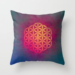 Flower Of Life (Light Within) Throw Pillow