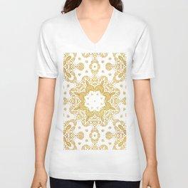 Golden pattern Unisex V-Neck