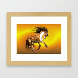 Mystical Horse .. fantasy Framed Art Print