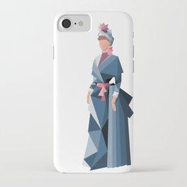 Geometric 19th century fashion iPhone Case