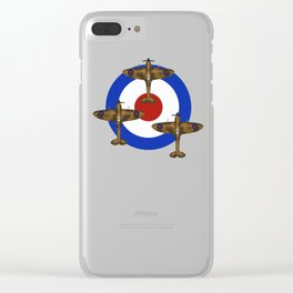 RAF Spitfires Clear iPhone Case