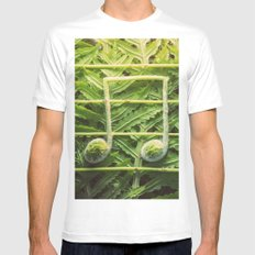 Music of the Fiddleheads MEDIUM Mens Fitted Tee White