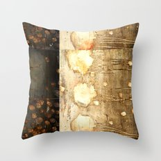 Brown and Beige Throw Pillow