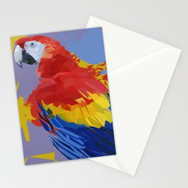 Parrot Macaw Digital Art Print Stationery Cards