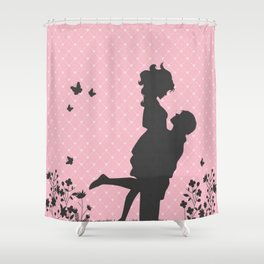 Aimer Silhouette  Shower Curtain