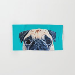 Wide Eyed Pug Hand & Bath Towel