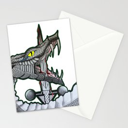 Serpant Twin Illustration Stationery Cards